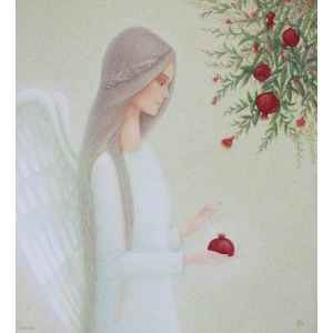 Angel with pomegranate